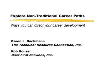 Explore Non-Traditional Career Paths