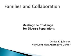 Families and Collaboration
