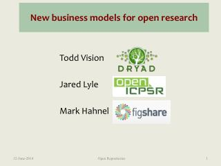 New business models for open research