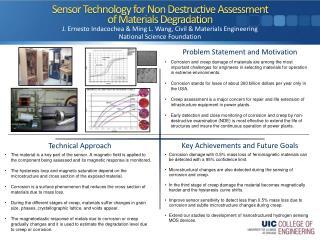 Sensor Technology for Non Destructive Assessment of Materials Degradation