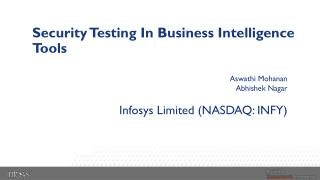 Security  Testing In Business  Intelligence Tools