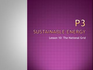P3 Sustainable Energy