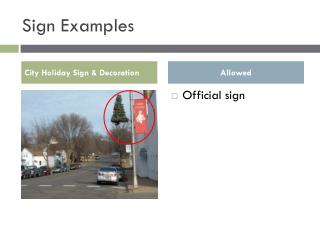 Sign Examples