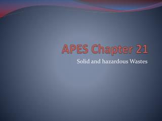 APES Chapter 21