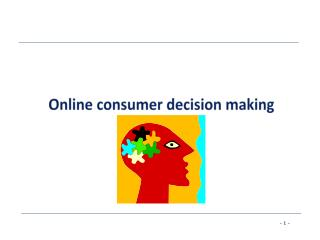 Online consumer decision making