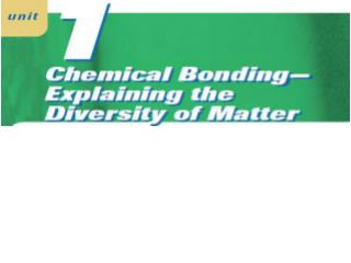 Chemical Bonding: Bonding Theory and Lewis Formulas