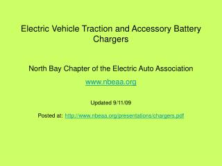 Electric Vehicle Traction and Accessory Battery Chargers  North Bay Chapter of the Electric Auto Association nbeaa Updat