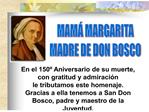 MAM  MARGARITA MADRE DE DON BOSCO