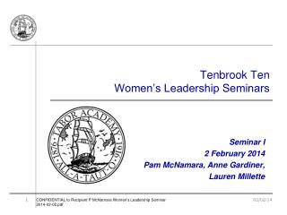 Tenbrook  Ten Women's Leadership Seminars
