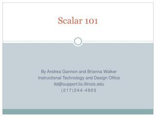 Scalar 101