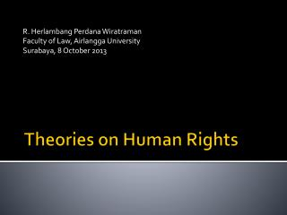 Theories on Human Rights