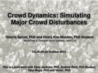 Crowd Dynamics: Simulating Major Crowd Disturbances