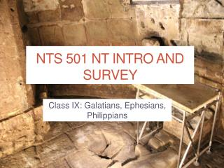 NTS 501  NT Intro  and Survey