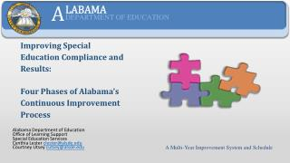 Alabama Department of Education Office of Learning Support Special Education Services