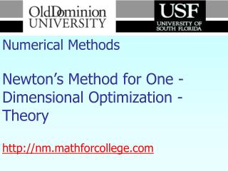 For more details on this topic  Go to  http://nm.mathforcollege.com Click on Keyword