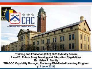 Future Army Training and Education Capabilities