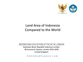 Land Area of Indonesia  Compared to the World