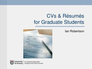 CVs & Résumés  for Graduate Students
