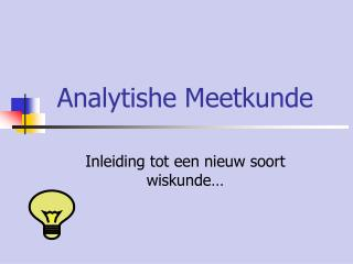 Analytishe Meetkunde