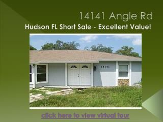 Excellent Value! Hudson FL Short Sale!