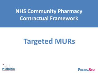 NHS Community Pharmacy Contractual Framework