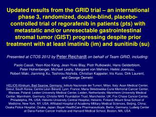 Presented at CTOS 2012 by  Peter  Reichard t on behalf of Team GRID, including: