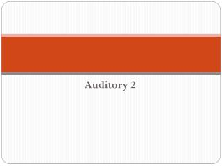 Auditory 2