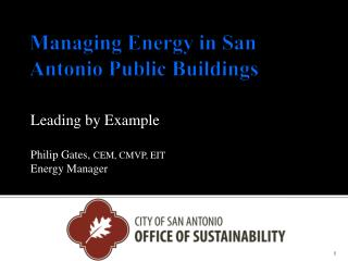 Managing Energy in San Antonio Public Buildings