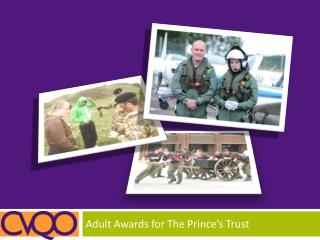 Adult Awards for The Prince's Trust