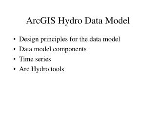 ArcGIS Hydro Data Model