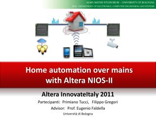 Home automation over mains with Altera NIOS-II