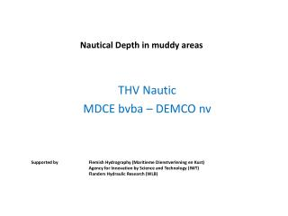 Nautical Depth  in  muddy  areas