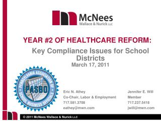 Key Compliance Issues for School Districts March 17, 2011