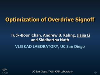 Optimization of Overdrive Signoff