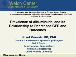 Welch Center Uniting Medicine & Public Health