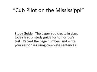 """Cub Pilot on the Mississippi"""