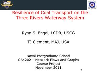 Resilience of Coal Transport on the Three Rivers Waterway System