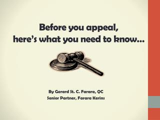 Before you appeal,  here's what you need to know…