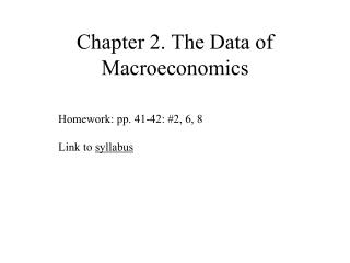 Chapter 2.  The Data of Macroeconomics