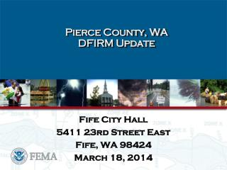 Pierce County, WA   DFIRM Update