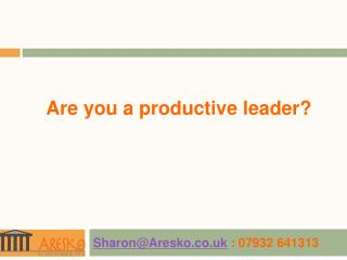 Are you a productive leader?
