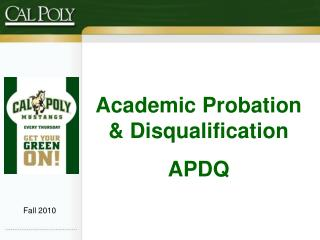 Academic Probation & Disqualification APDQ
