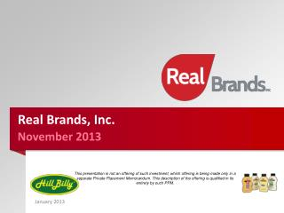 Real Brands, Inc.