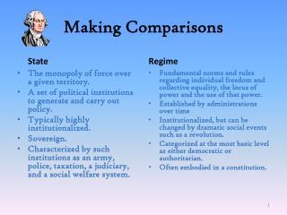 Making Comparisons
