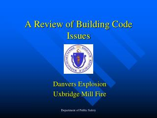 A Review of Building Code Issues