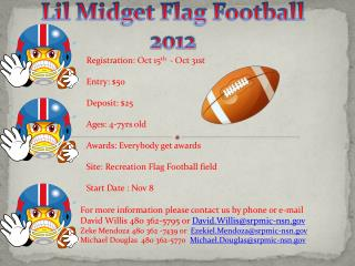 Lil Midget Flag Football  2012