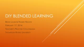 DIY Blended Learning