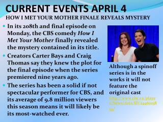CURRENT EVENTS APRIL 4