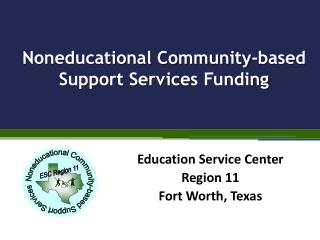 Noneducational Community-based Support Services Funding