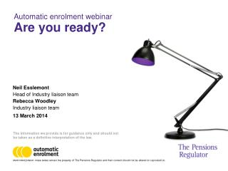 Automatic enrolment webinar   Are you ready?